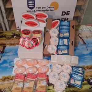 Bleu d'Auverne, Brie, Emmentale, diverse buitenlandse kaasjes